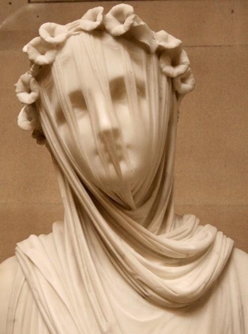 A Veiled Vestal Virgin by Raffaelle Monti