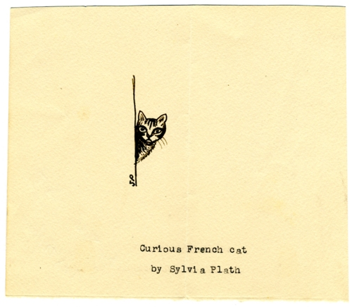curious-french-cat-by-sylvia-plath
